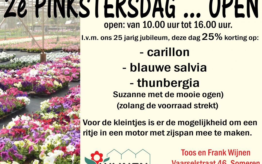 2e Pinksterdag geopend met diverse aanbiedingen