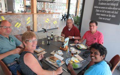 Lunch bij Wouterbergen.